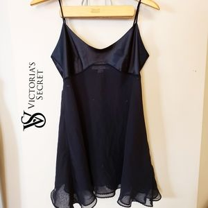 Victoria Secret satin slip dress lingerie chiffon